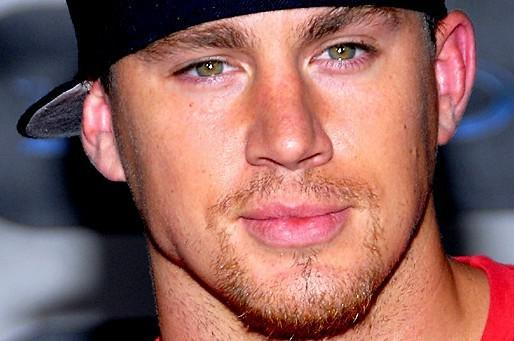 channing tatum face picture with green eyes
