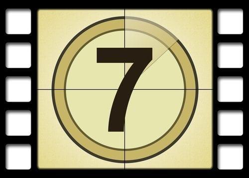 number 7 film strip