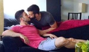 cute gay couple kissing (2)