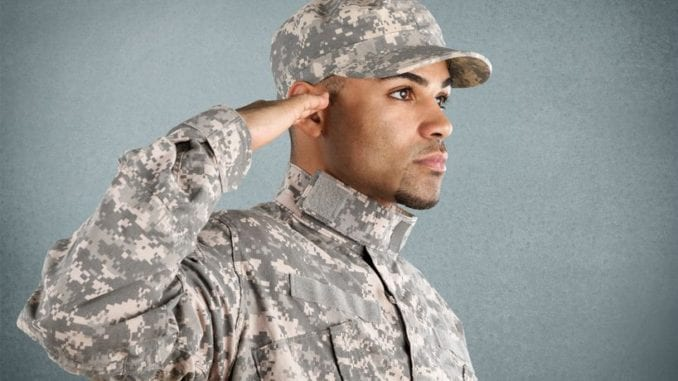 attractive military man