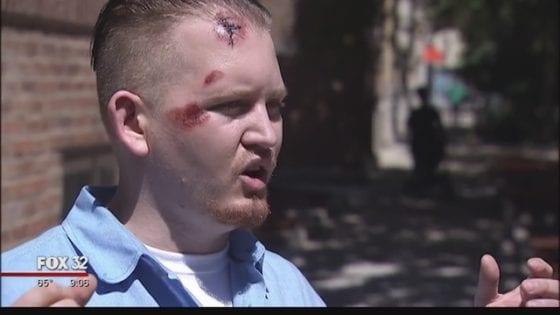 Chicago gay pride attack gay man