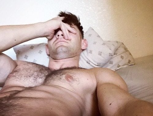 guy with a hairy chest