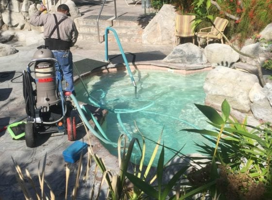 Jacuzzi shut down for cleaning