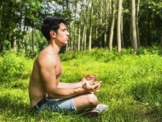 gay man meditating