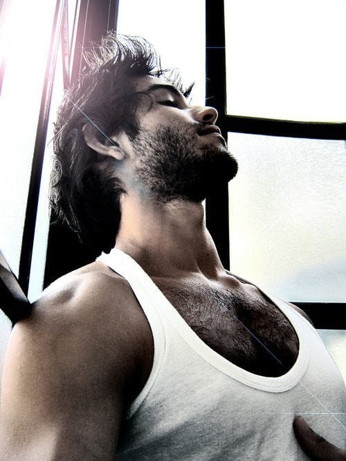hairy chest face