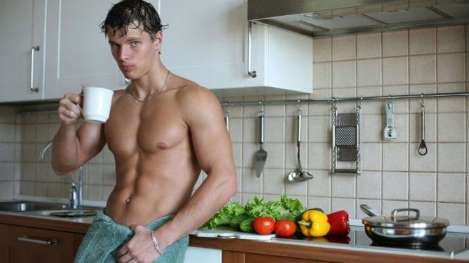 handsome man plants fruits veg