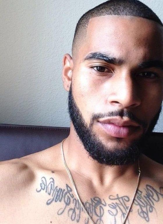 sexy black man facial hair