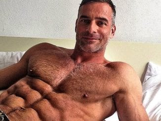 sexy older man abs muscles