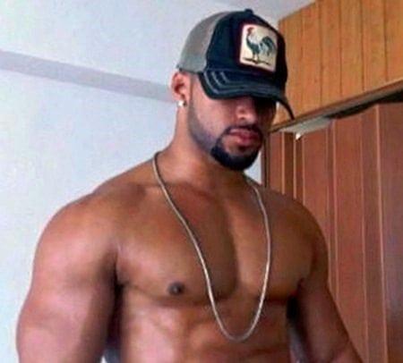 sexy muscular black man