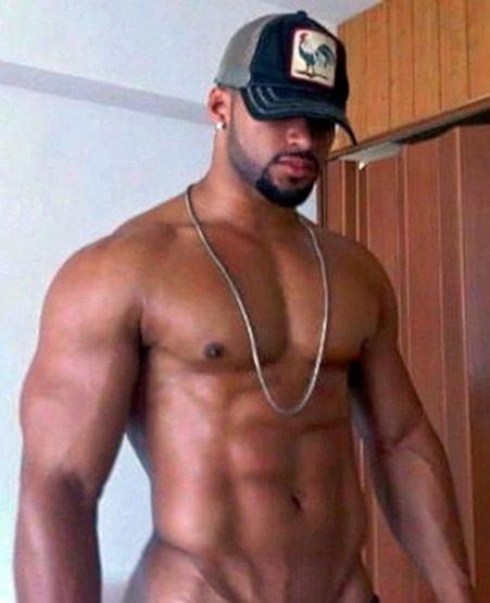 sexy black man muscles shirtless