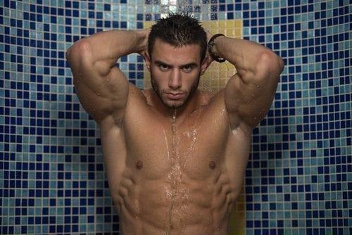 hot guy shower