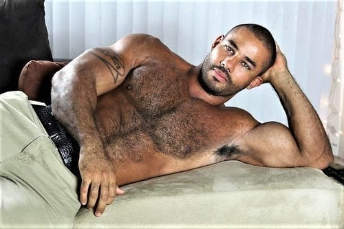 hairy chest black man muscles