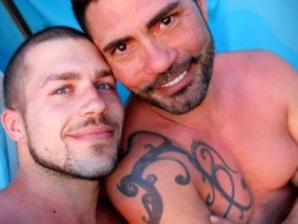 adorable gay couple