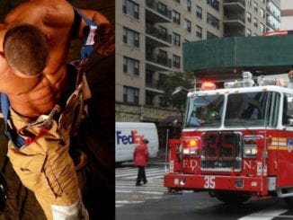 sexy firefighter muscles shirtless
