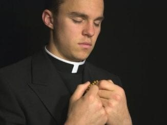 young attractive priest