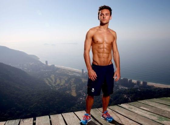 tom daley shirtless abs
