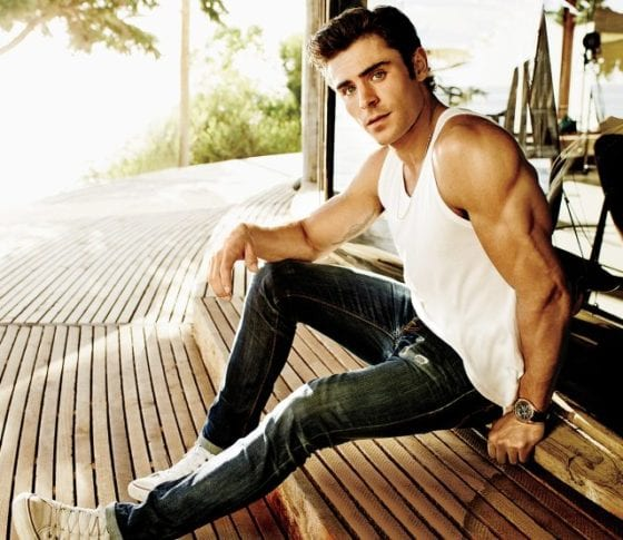 zac efron muscles