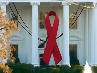 white house hiv/aids ribbon