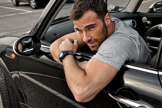 sexy guy mechanic car