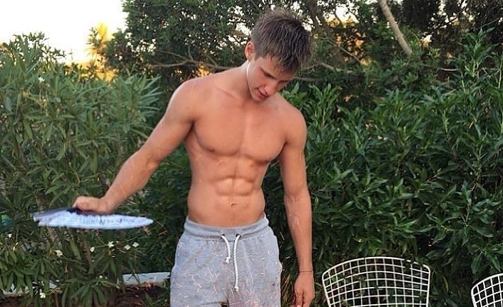 hot guy in sweats