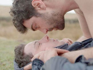 """Josh O'Connor and Alec Secareanu in """"God's Own Country"""""""