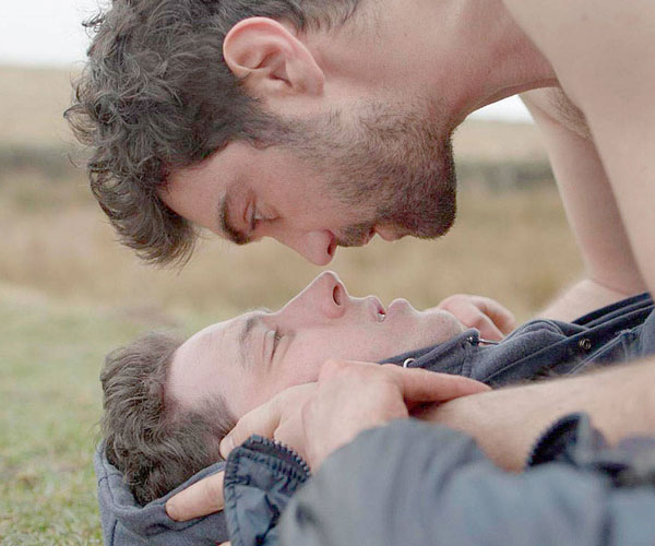 "Josh O'Connor and Alec Secareanu in ""God's Own Country"""
