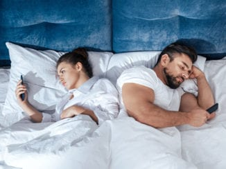 couple bed dry spell on cell phones