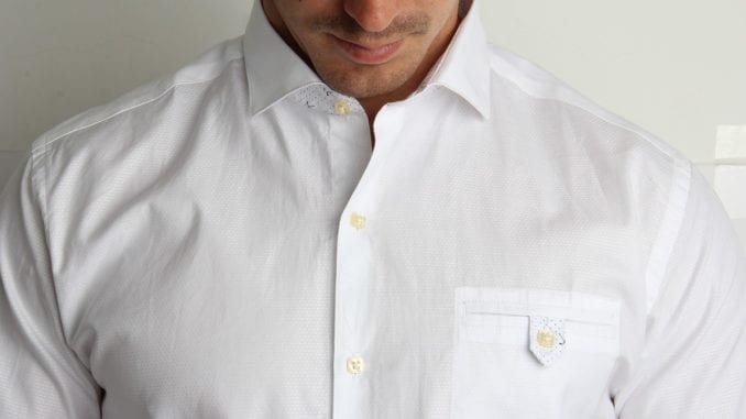attractive man white shirt