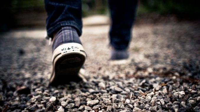 man walking physical activity