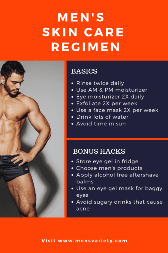 skincare regimen men 101
