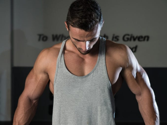 body builder stretch marks