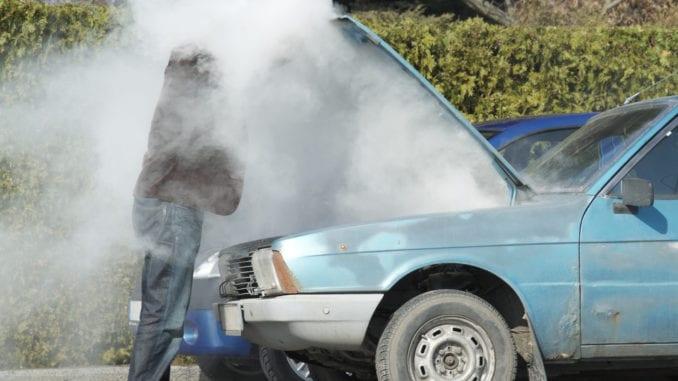 car engine hot