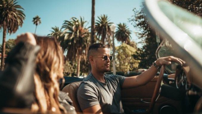girlfriend boyfriend driving