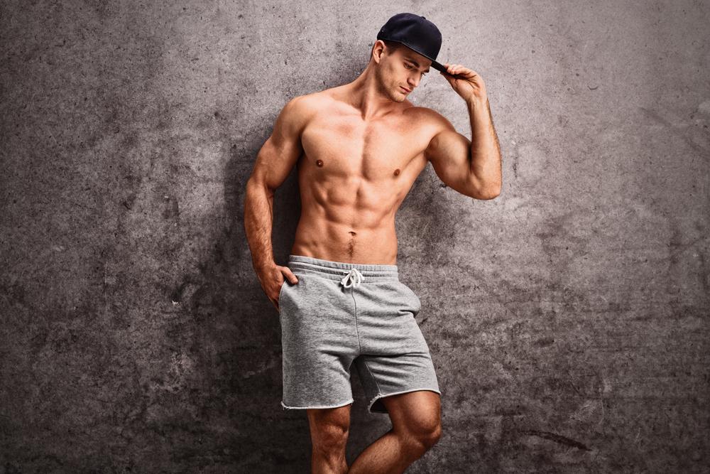 handsome man lounge shorts