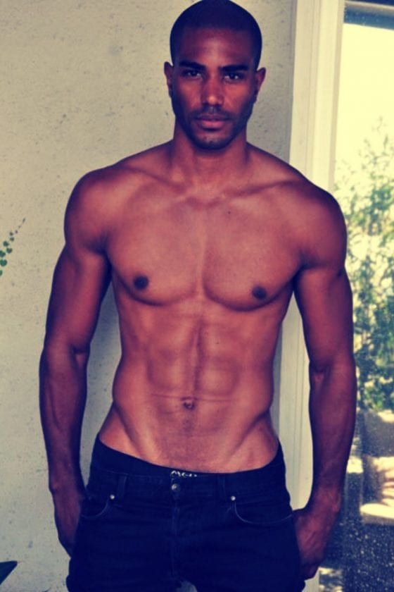african american man in jeans hot