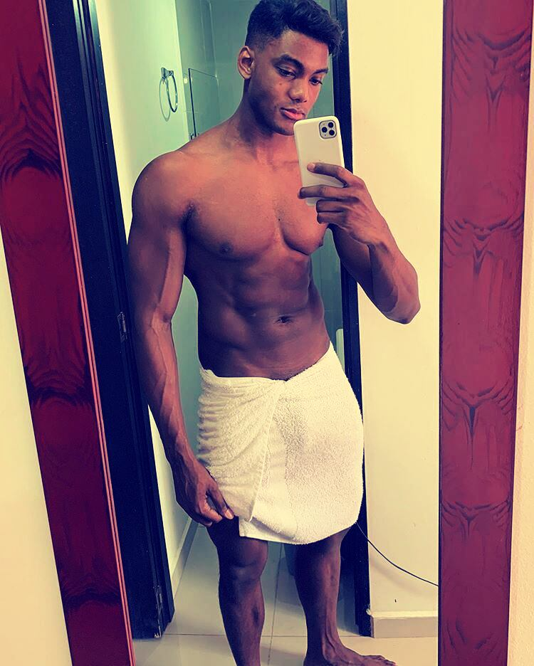 brown skin dark towel