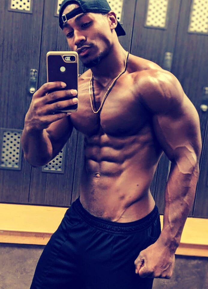 athletic black male selfie